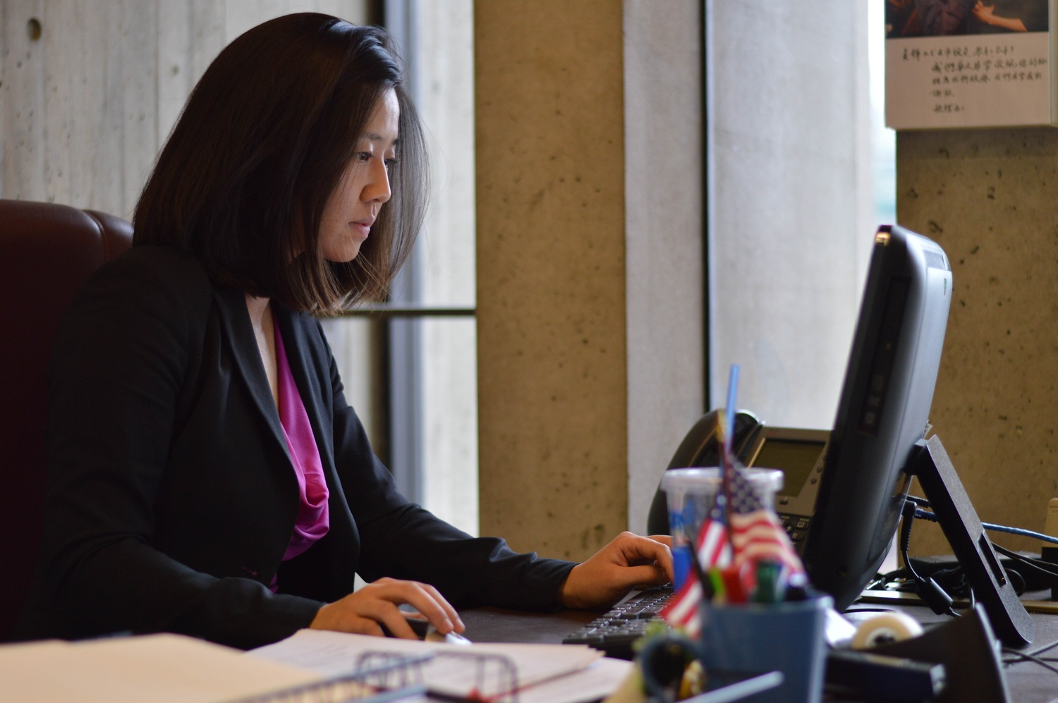 Boston City Councilor Michelle Wu '07, seen here in 2015, announced her candidacy for mayor in September.