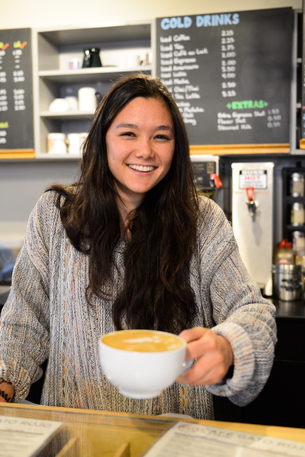 """""""He has a great history of teaching this course, and he's able to tap into those experiences,"""" says Li E.K. Murphy '15, a student of Stilgoe's who works as a barista at Cafe Gato Rojo."""