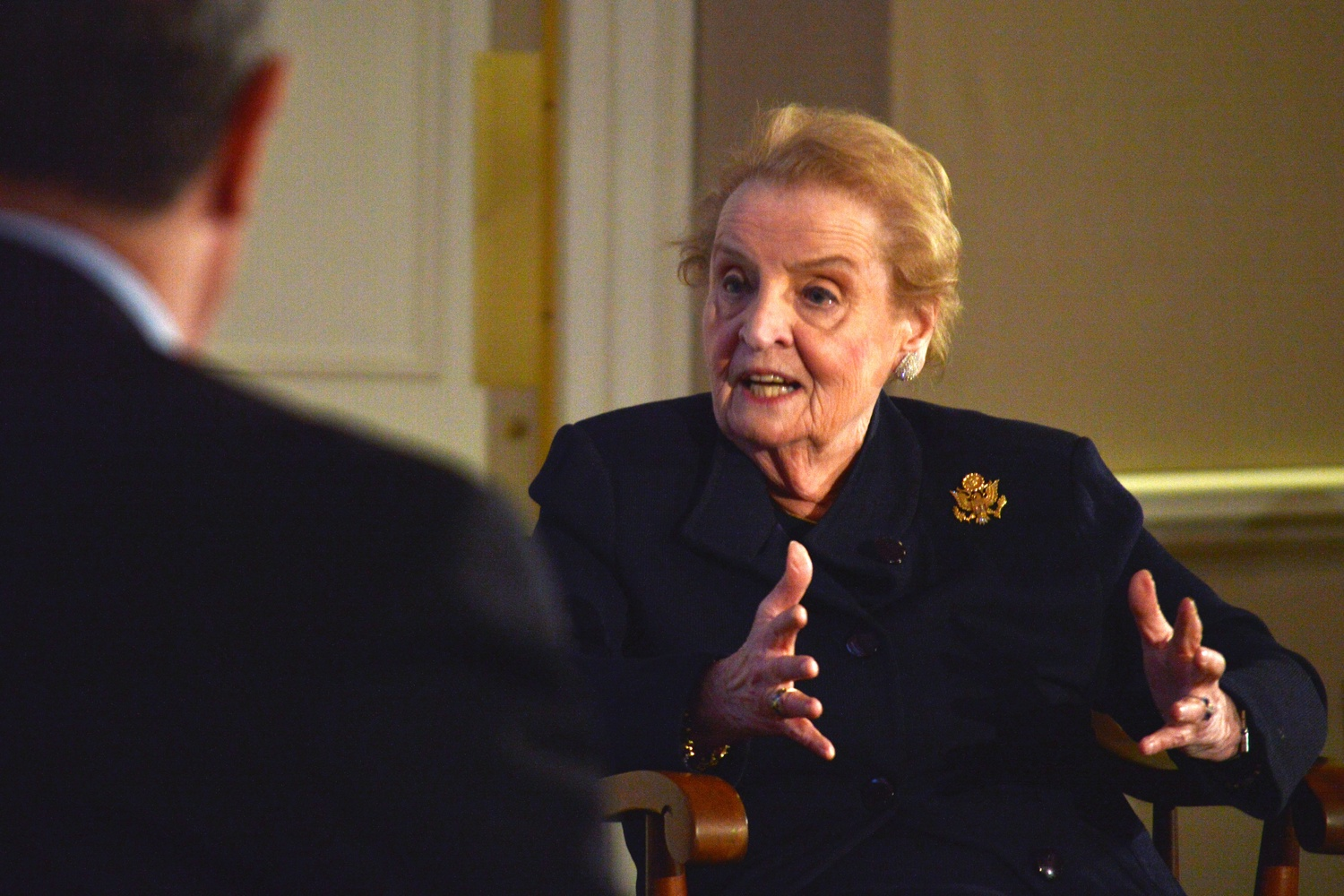 Former Secretary of State Madeleine K. Albright speaks of her diplomatic experiences with Slobodan Milošević and other challenging negotiations during her time with the Clinton Administration. She spoke as part of a larger project focused on diplomacy, negotiation, and statecraft organized by the Harvard Business School.