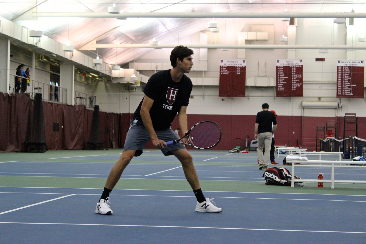 Sophomore Sebastian Beltrame and his doubles partner Nicky Hu won their match against Cornell's Sam Fleck and Colin Sinclair, 6-4.