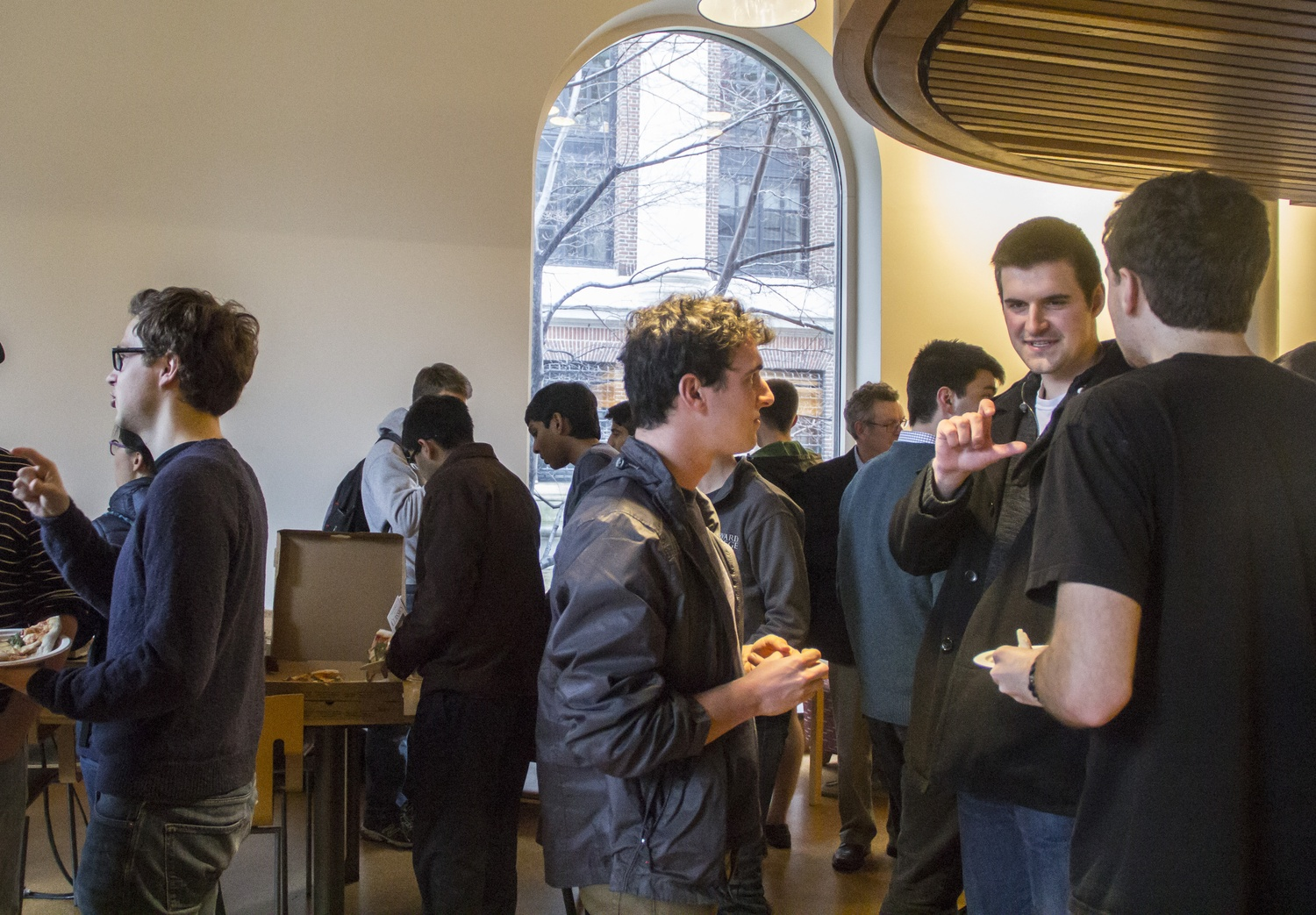 Freshmen students talk to faculty and current Classics concentrators about the department. The advising session was part of Harvard's Advising Fortnight, a series of advising events aiming to inform freshmen about potential concentrations.