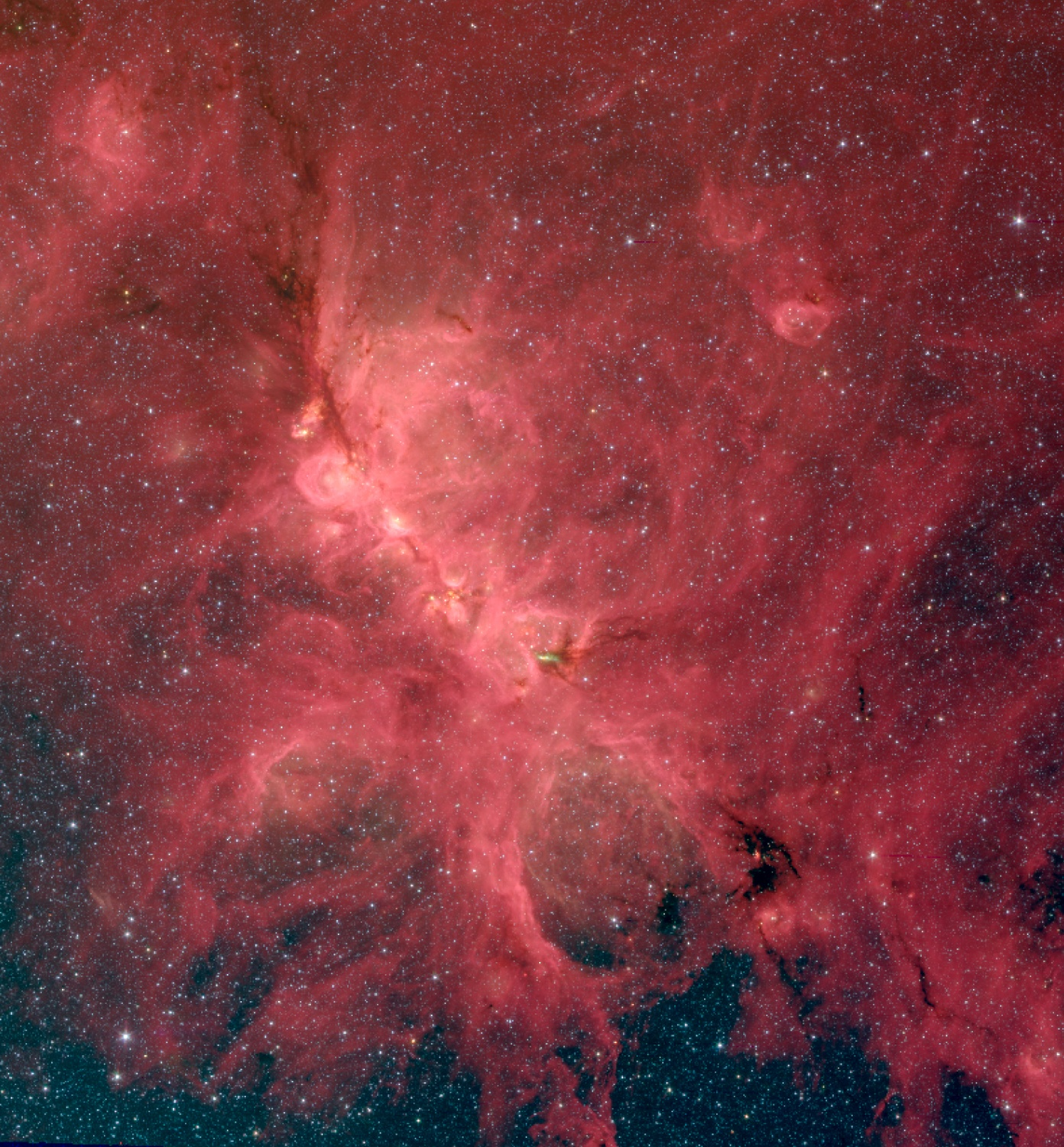 A new study of the Cat's Paw Nebula found that magnetic fields influence star formation on a variety of scales, from hundreds of light-years down to a fraction of a light-year.
