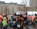 Runners Celebrate At End of Marathon