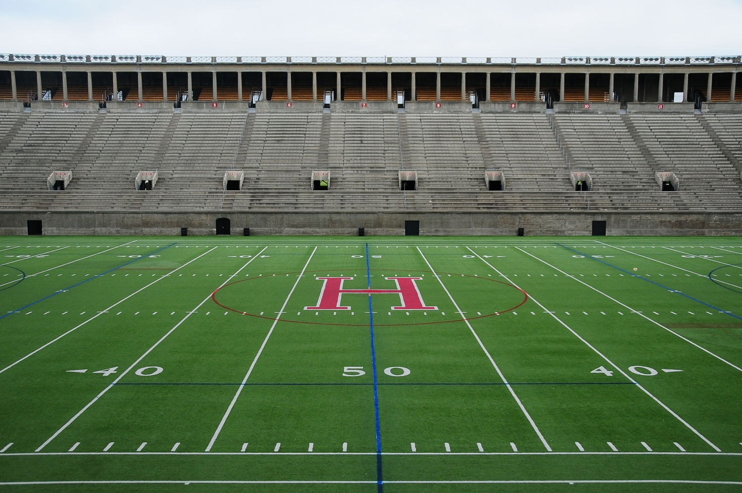 Harvard Stadium began a renovation project on April 6 that will install a hybrid turf technology as well as new goalposts. The project, which will also overhaul electrical work on the perimeter of the field, will be completed by June 8th.