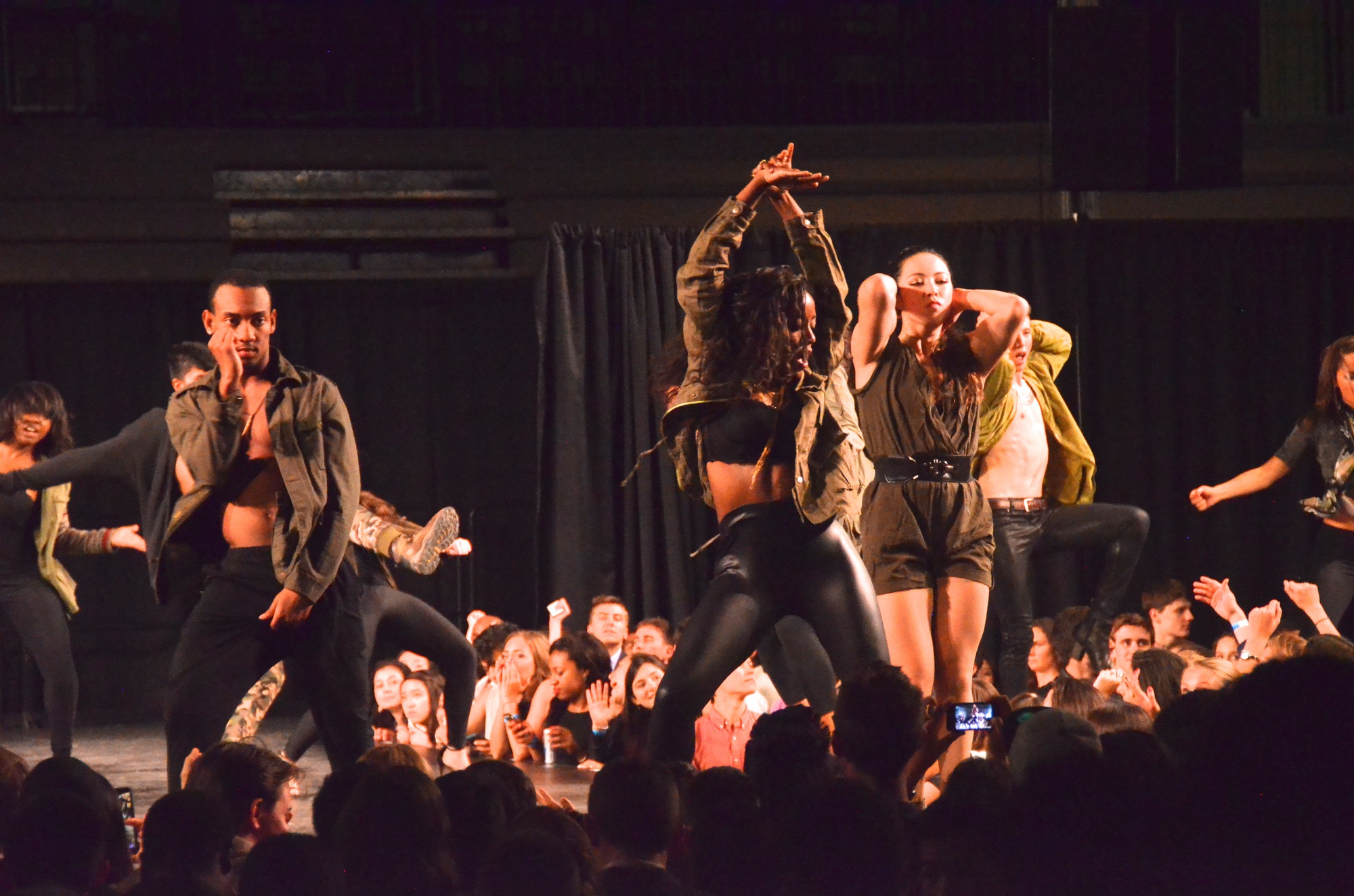 """Students perform in campus charity fashion show Eleganza 2015: """"Pandora's Box"""" at Lavietes Pavilion. The show, which is one of the largest student events at Harvard University, sold out its performance, with all proceeds going to the Boston Center For Teen Empowerment."""