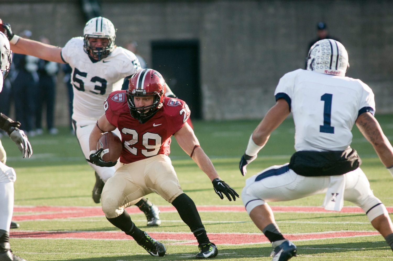Junior Paul Stanton carried an often injured Harvard offense this season, helping the team achieve an undefeated season and yet another Ivy League title.