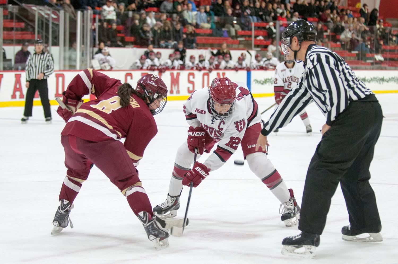 The Harvard women's ice hockey team upset then-No.1 Boston College to take home the Beanpot championship.