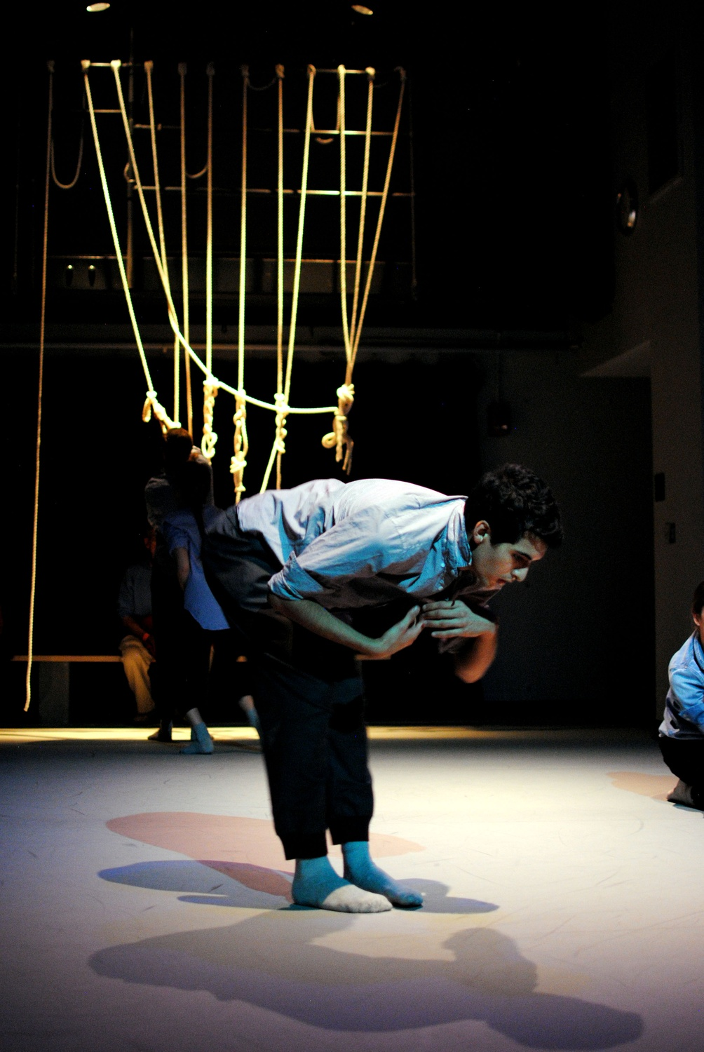 "Graduate School of Education student Aru Gonzalez performs on the opening night of the Harvard Dance Project's ""LOOK UP"" on Nov. 7."