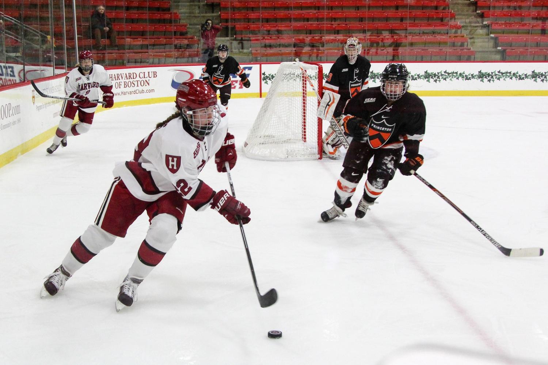Freshman Lexie Laing scored 10 goals for the Crimson, tops among Harvard freshmen.
