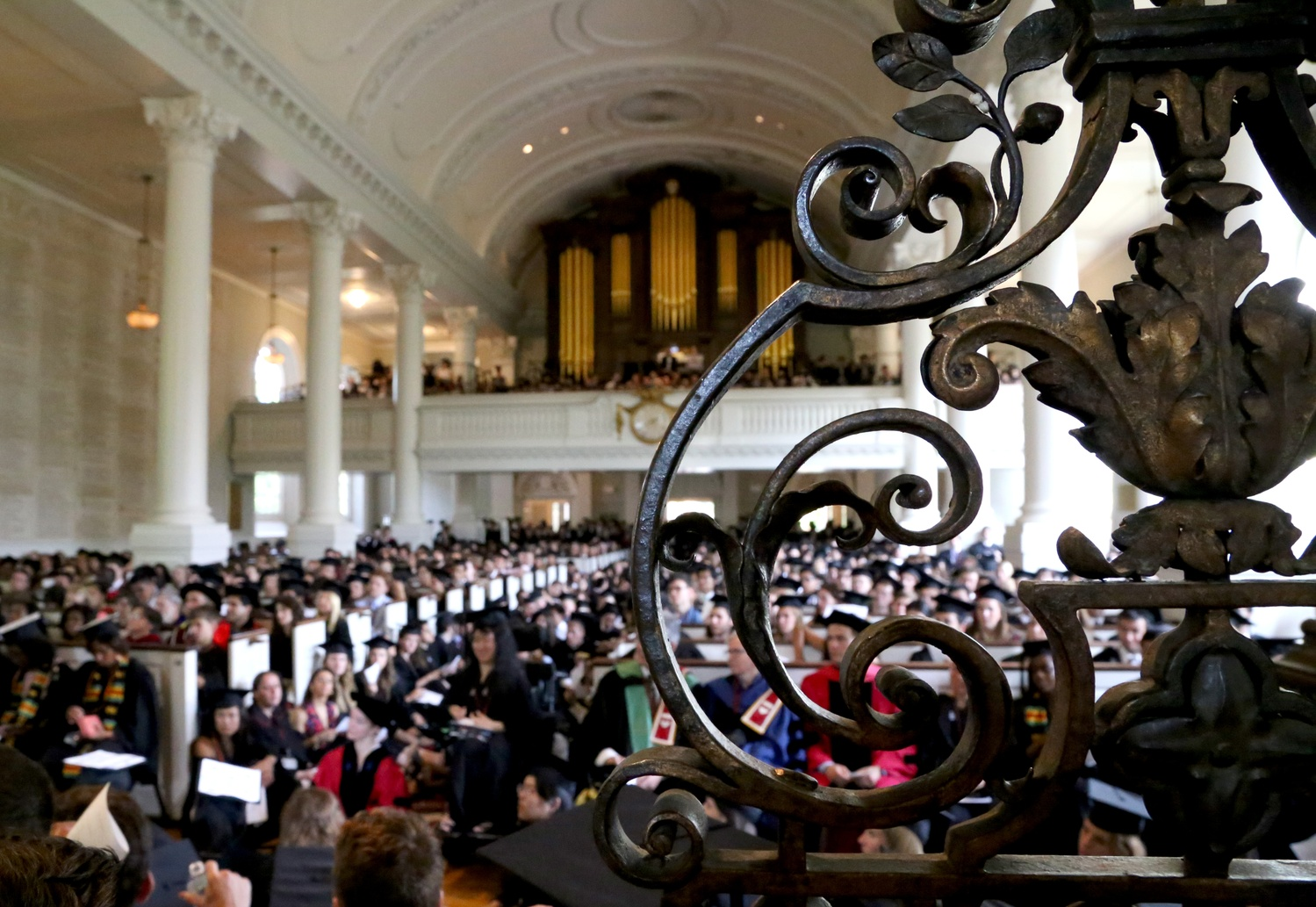 Memorial Church, pictured during Commencement of last year. The Church will soon undergo renovations.