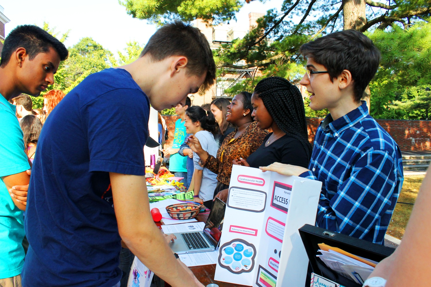 Students talk to representatives and sign up for various clubs on campus on display at the 2015 Activities Fair.