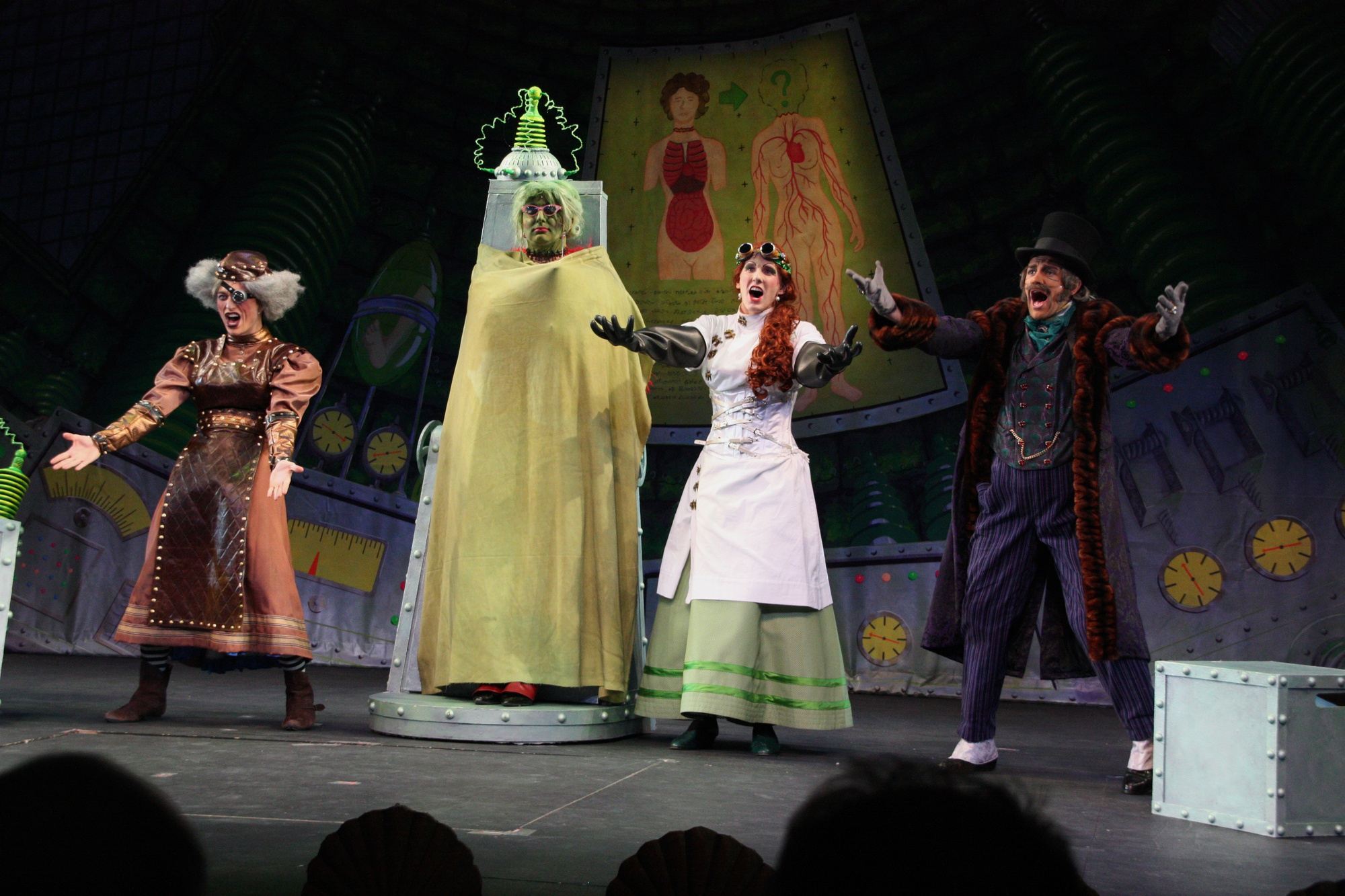 """Alex M. Willis '14, David A. Sheynberg '16, Karl Kopczynski '15, and Max McGillivray '16 perform in Hasty Pudding Theatricals' 166th production """"Victorian Secrets."""" As of Monday evening, 17 undergraduate women have been signing up for auditions for the group despite its traditional all-male cast."""