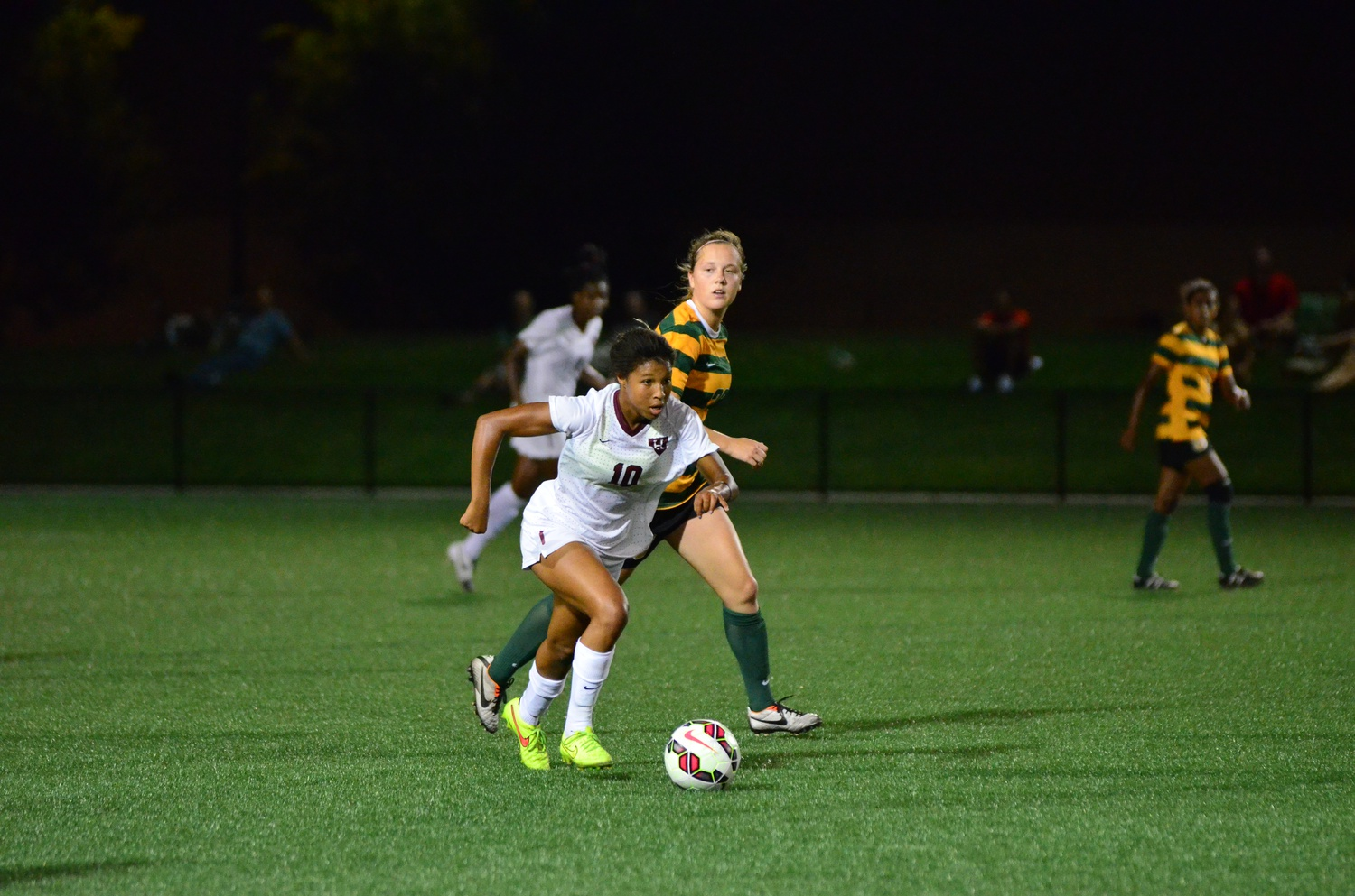 Junior forward Midge Purce, shown in action on Sept. 5, 2014, scored the game's first goal against UNH Thursday night.