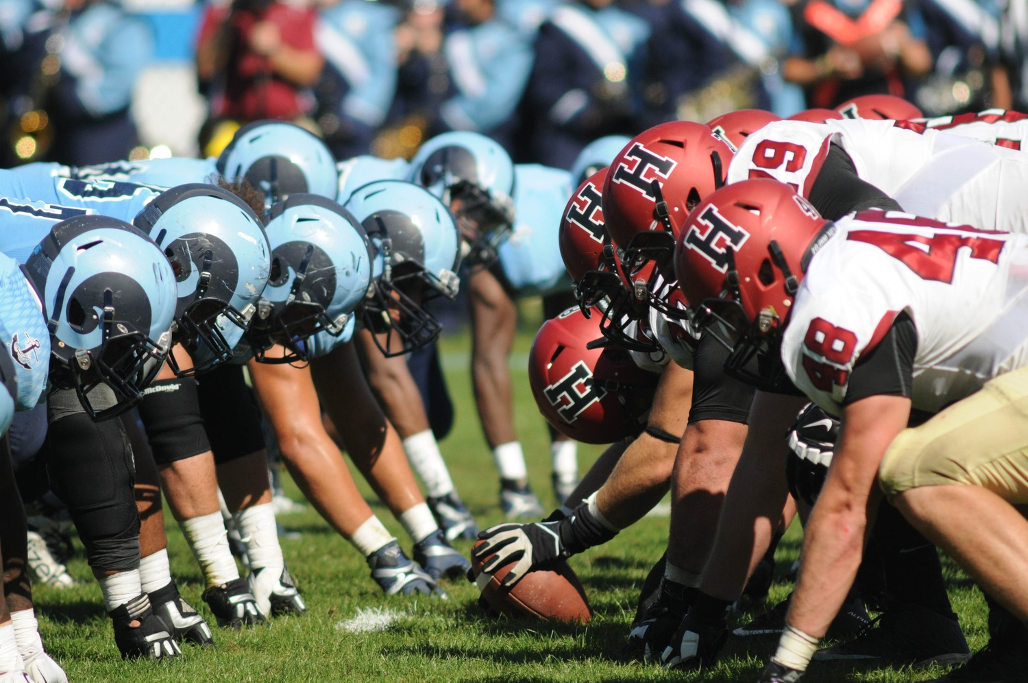 The Harvard football team notched its 15th straight win in its season opener at the University of Rhode Island by a score of 41-10.