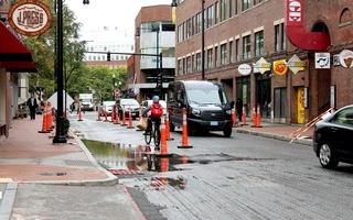 Construction Blocks Off Street