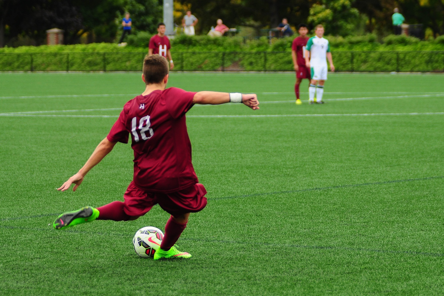 Sophomore midfielder Christian Sady, pictured in action last September, took several free kicks that led to immediate scoring chances Tuesday night against UNH.
