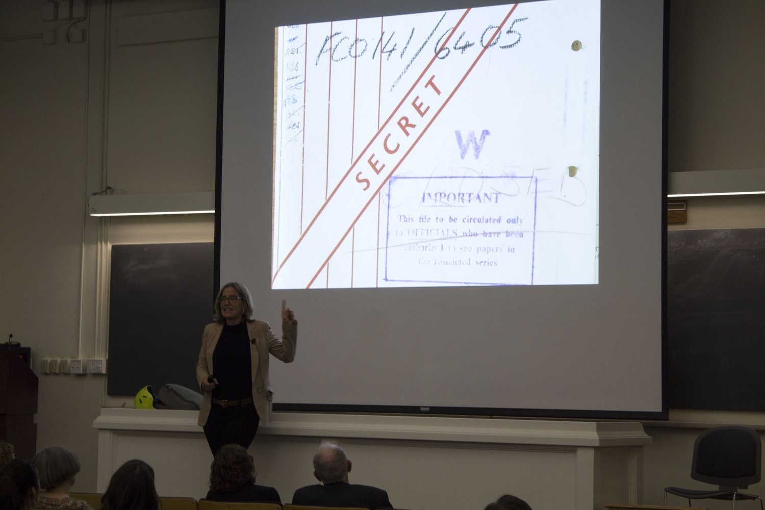History professor Caroline Elkins shares a picture of a confidential document she found while working as an expert witness in a legal case brought by Kenyan independence movement participants against the British government. Her work on the case exemplified how historical research can contribute to the progress of contemporary social and political developments.