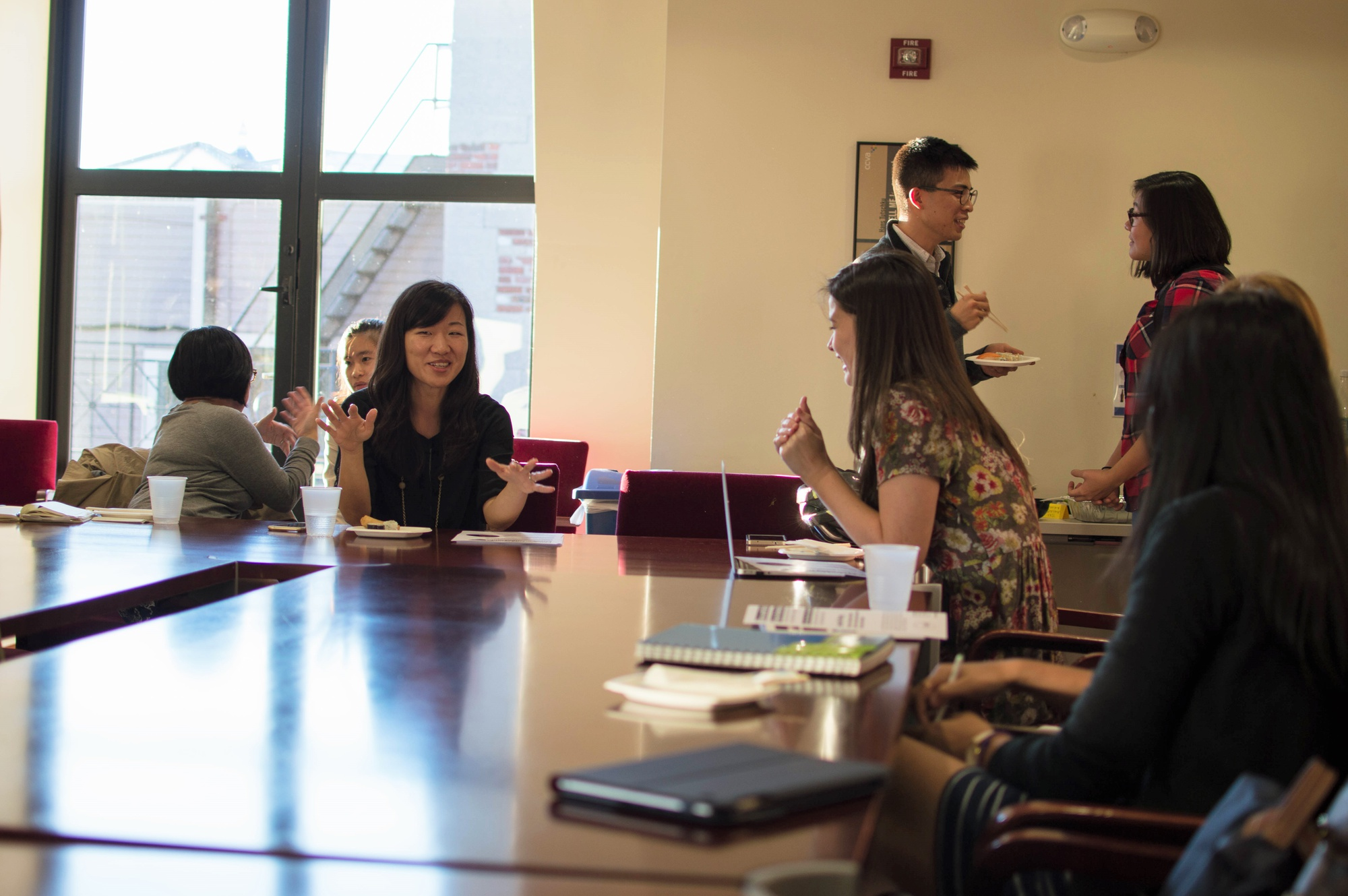 Undergraduates, graduates, and faculty alike discuss the intended goals and structure of the Asian American studies working group in the organization's first meeting on Thursday afternoon