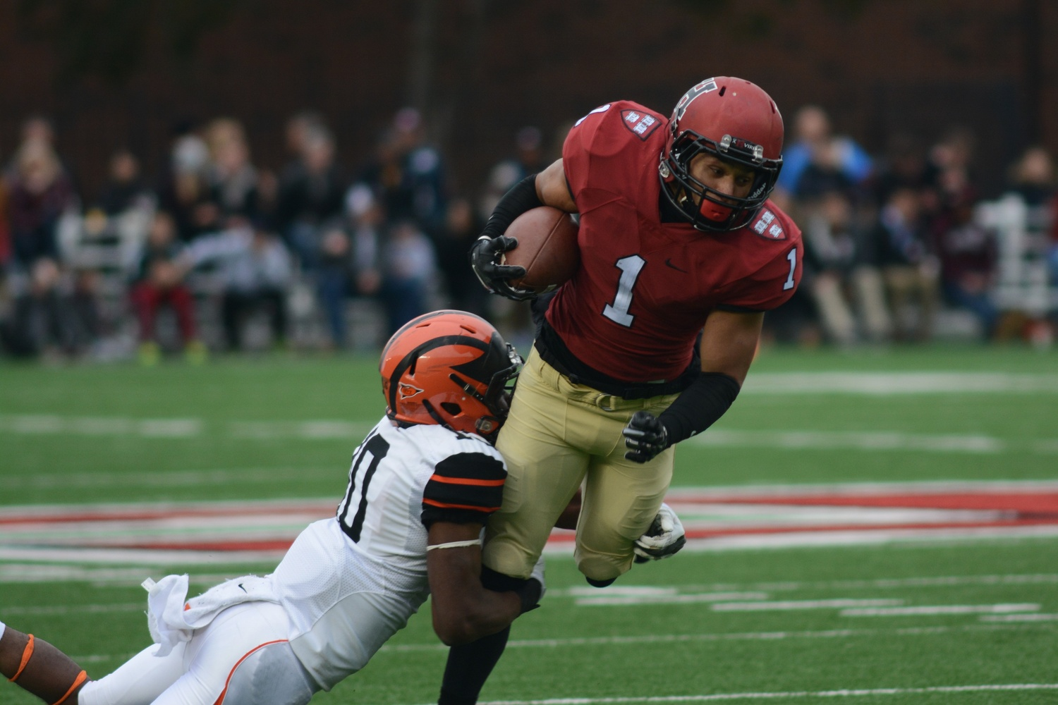 Senior wide receiver Andrew Fischer amassed 190 yards on 10 catches, including one for a touchdown. Harvard throttled Princeton at home on Saturday, 42-7.