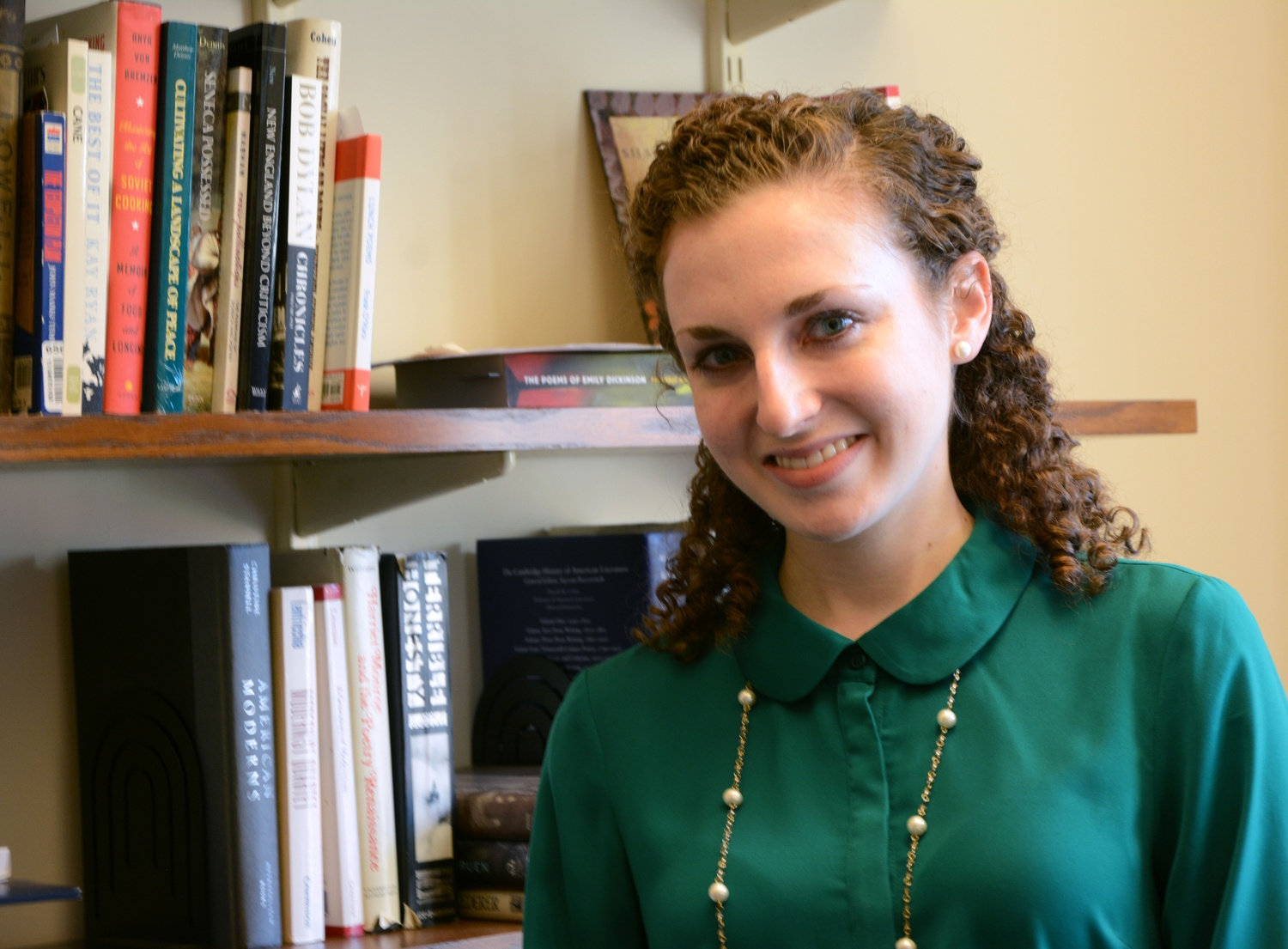 "Caitlin M. Ballotta '14 currently works as a producer for the course ""Poetry in America."" During her time at Harvard, Ballotta concentrated in English."