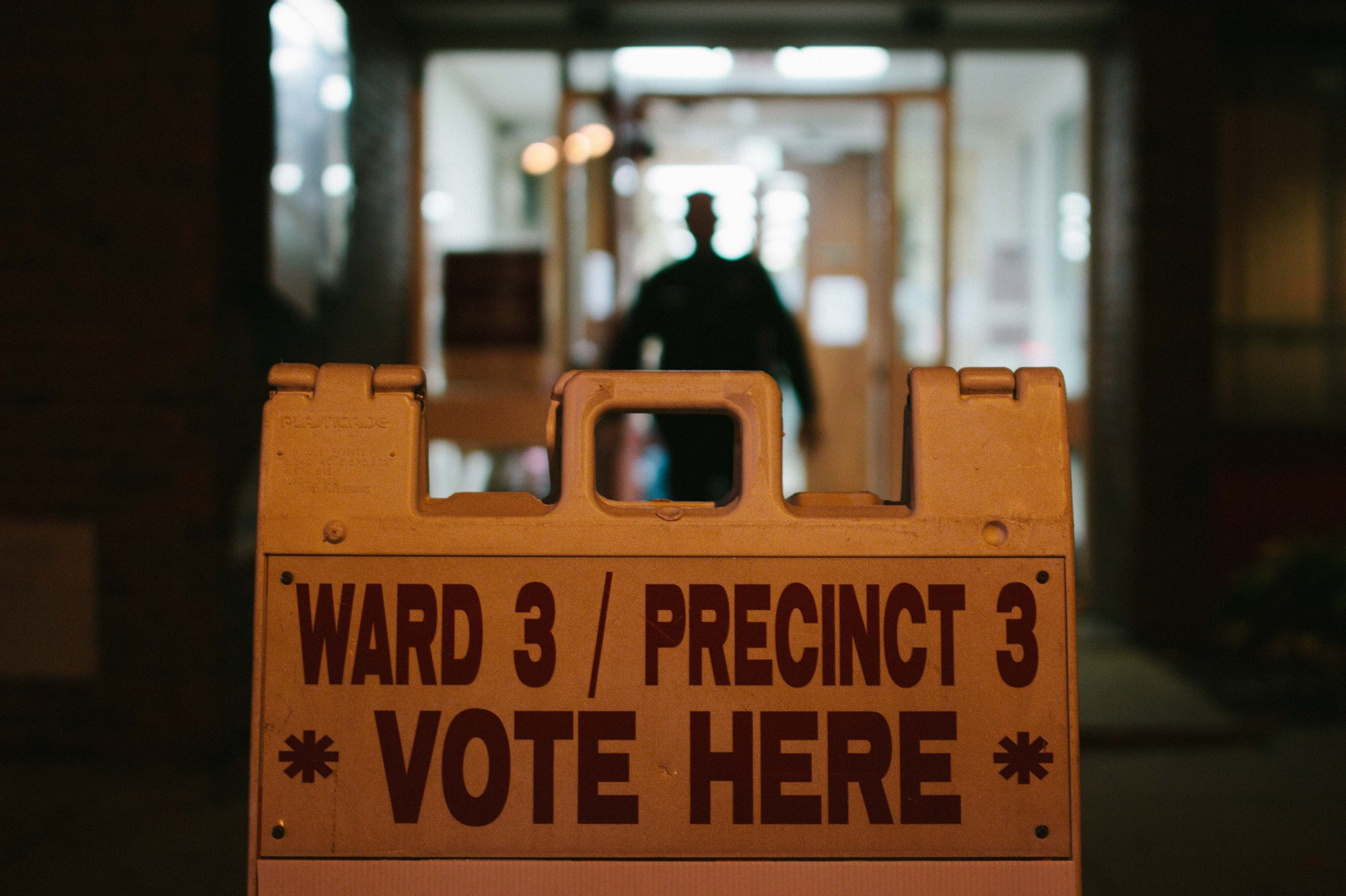 The Cambridge Municipal Election draws to a close outside of a Salvation Army in Central Cambridge on Tuesday evening.