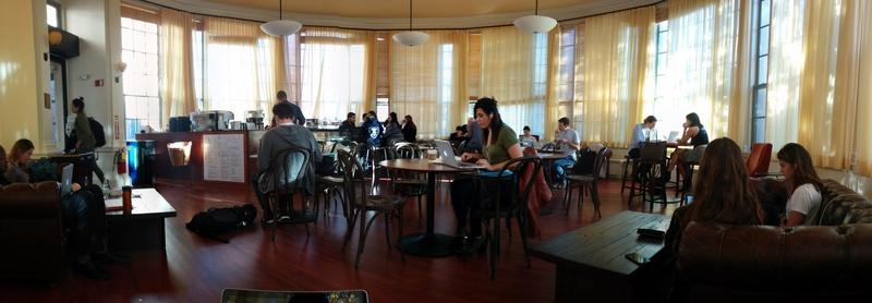 Barker Cafe on a sunny afternoon.