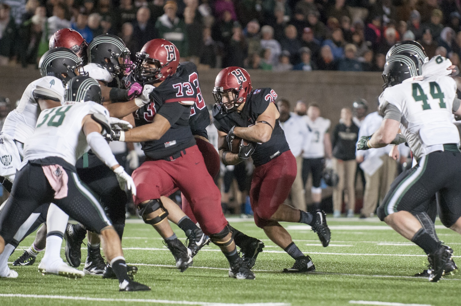Senior running back Paul Stanton Jr. and the Harvard offense will look to continue its prolific production against an improving Columbia defense.