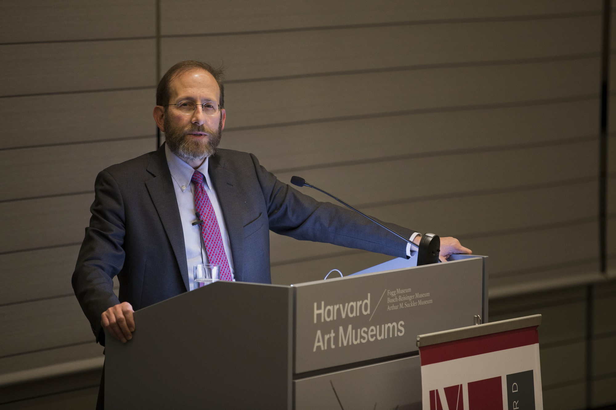 """University Provost Alan M. Garber '76 speaks about the relevance of disciplines in academia during his 2015 provostial lecture, """"Why Disciplines Persist"""" on Nov. 10."""