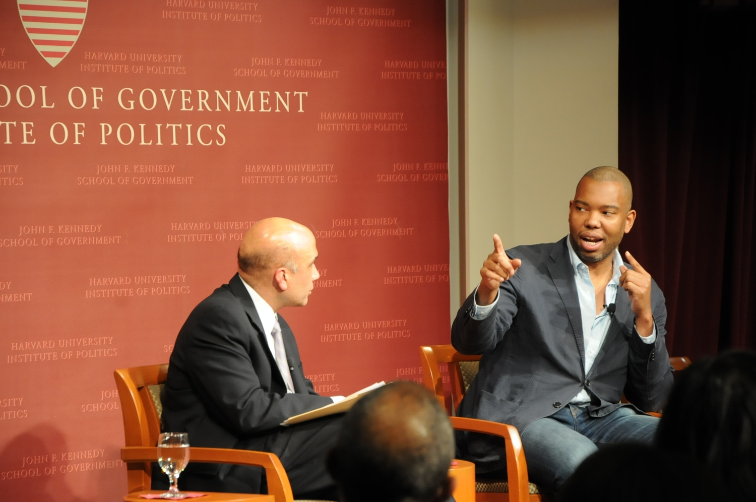 Ta-Nehisi Coates speaks about the hardships of being black in the U.S. Coates was invited to speak at the IOP on Wednesday evening.