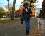 Fall Fashion: Au Bon Pain coffee