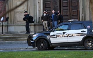 Police at Memorial Hall