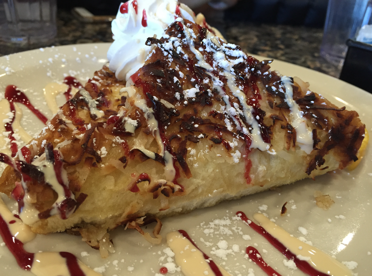 The coconut macaroon French Toast we cannot stop dreaming about.