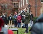 Luke Leafgren at Protest