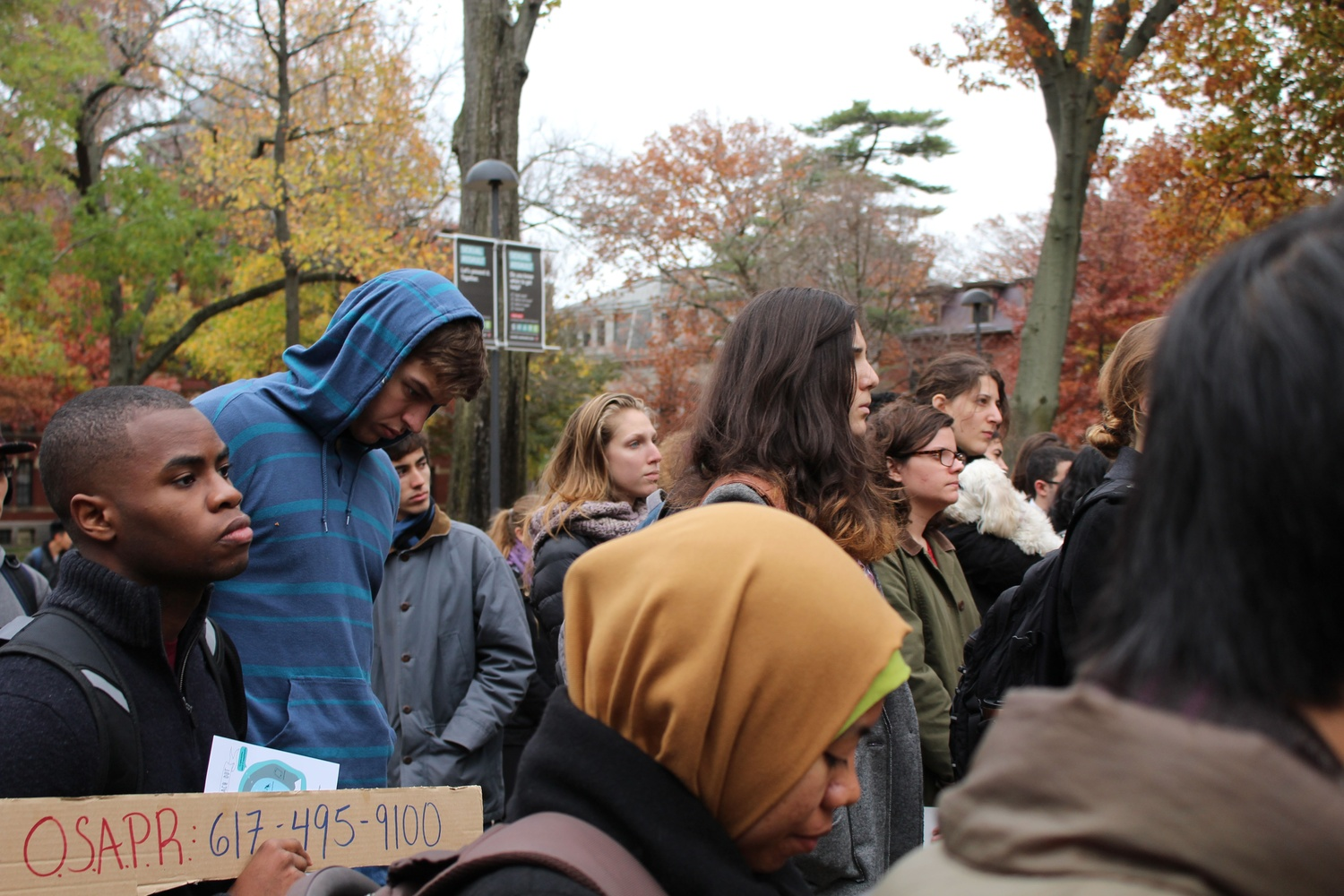 At a rally in the fall, students called on Harvard administrators to allocate more resources to sexual assault prevention.