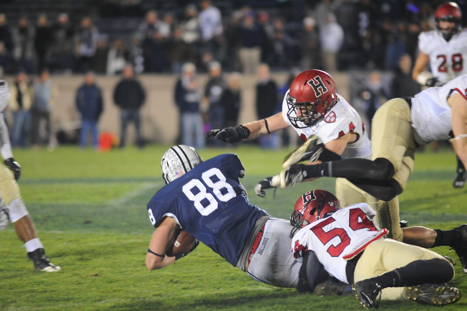 The Crimson defense held Yale scoreless for 42 minutes after its opening touchdown drive.