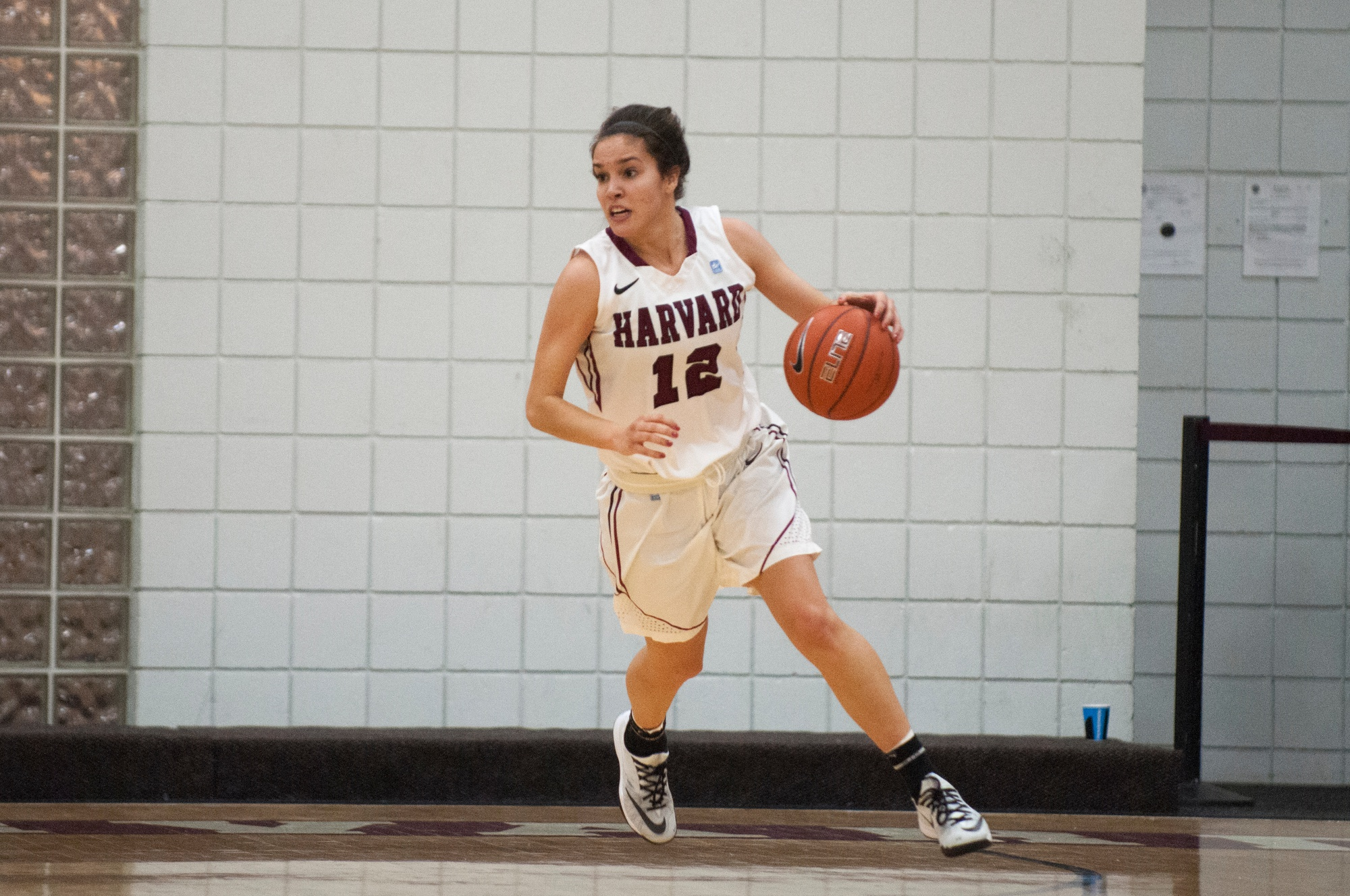 Shown here in previous action, senior guard Kit Metoyer registered 15 points in Harvard's 73-55 win over Boston University Tuesday night. Metoyer was one of three seniors to score in double-digits.