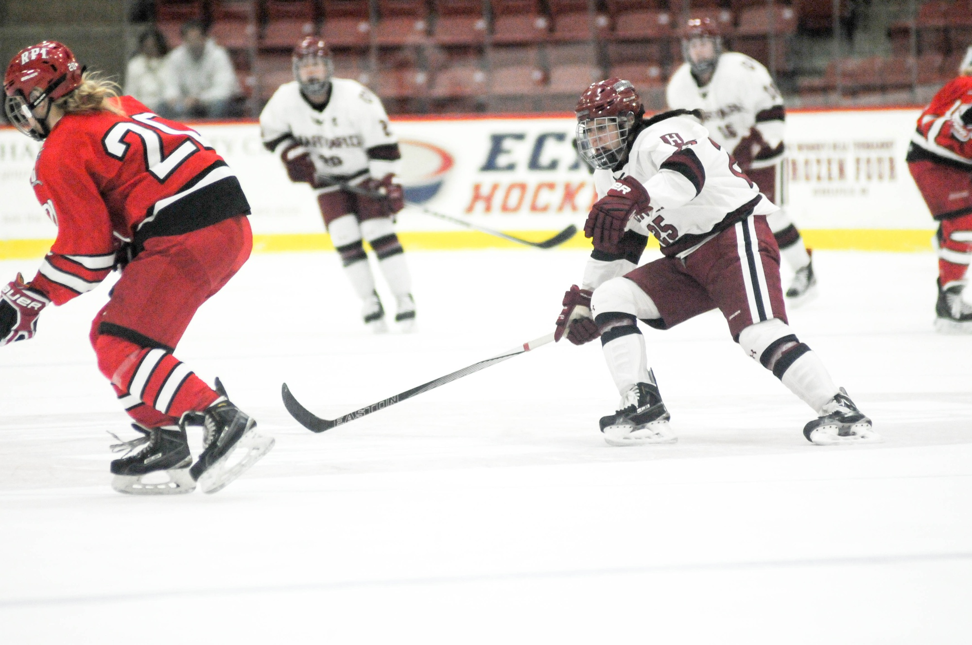 Junior forward Sydney Daniels, shown here in previous action, notched a goal in Harvard's 3-0 victory over Northeastern Tuesday night.