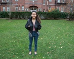 Sierra in Adams Courtyard