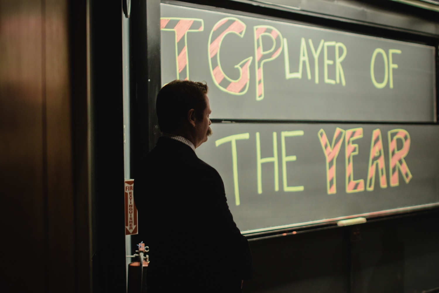 Annually, The Immediate Gratification Players, an improv group, recognizes a comedian by honoring them as the IGP Player of the Year. Nick Offerman follows a legacy of other famous actors, such as Jeff Garlin and, most recently, Keegan-Michael Key.