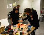 Silkscreening at Harvard Art Museums