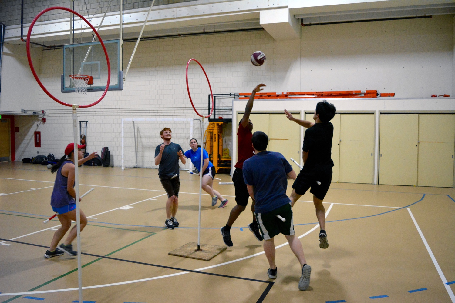Harvard's quidditch team, The Harvard Horntails, held its first practice of the semester, which was open to all students, at the Harvard Quad Recreational Athletic Center on Wednesday.