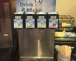 Winthrop d-hall's flavored water dispenser. (Not shown: the colony of fruit flies that lives next to it)