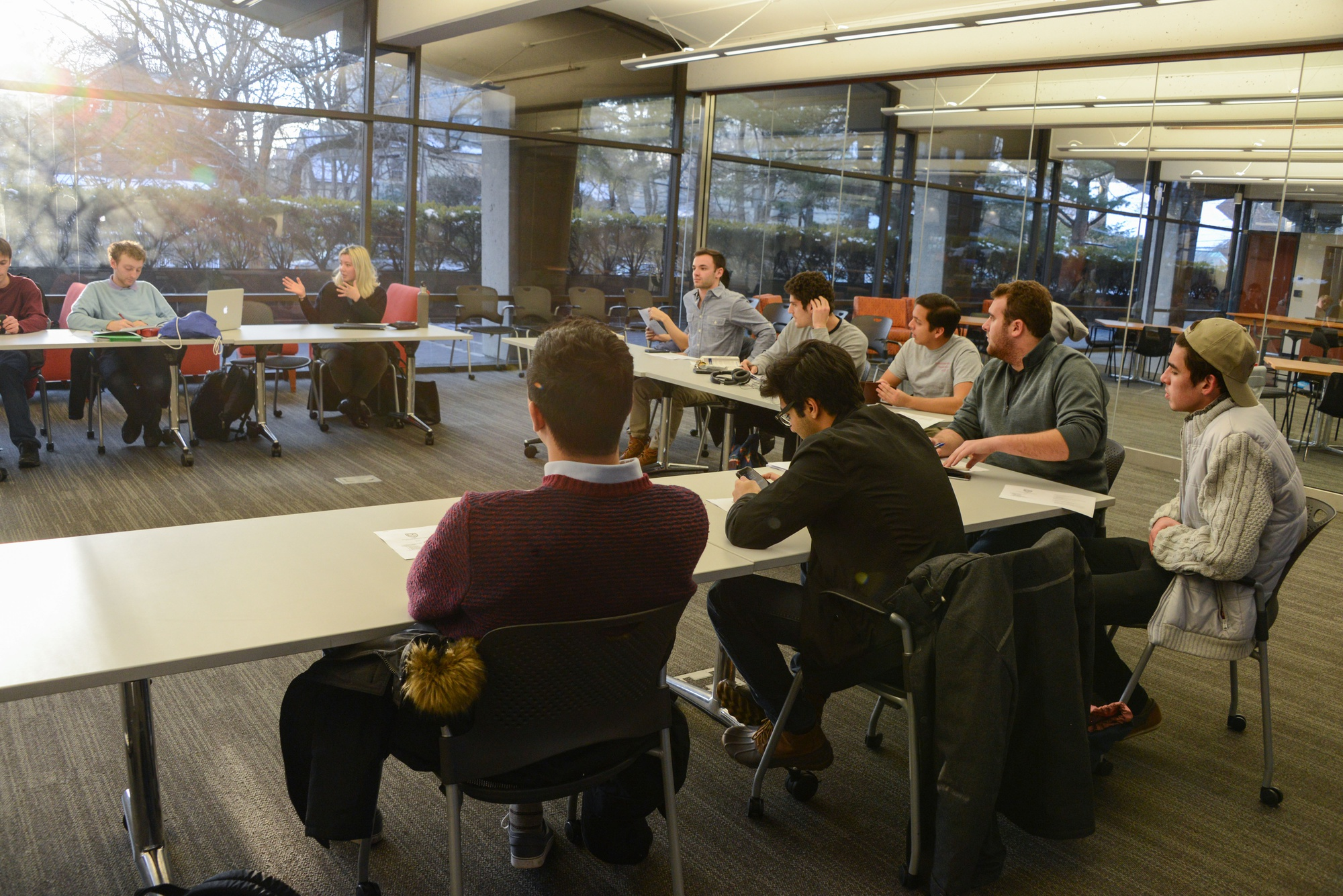 Members of the Harvard Undergraduate Council meet in the SOCH on Sunday afternoon to discuss issues and concerns raised by the student body.