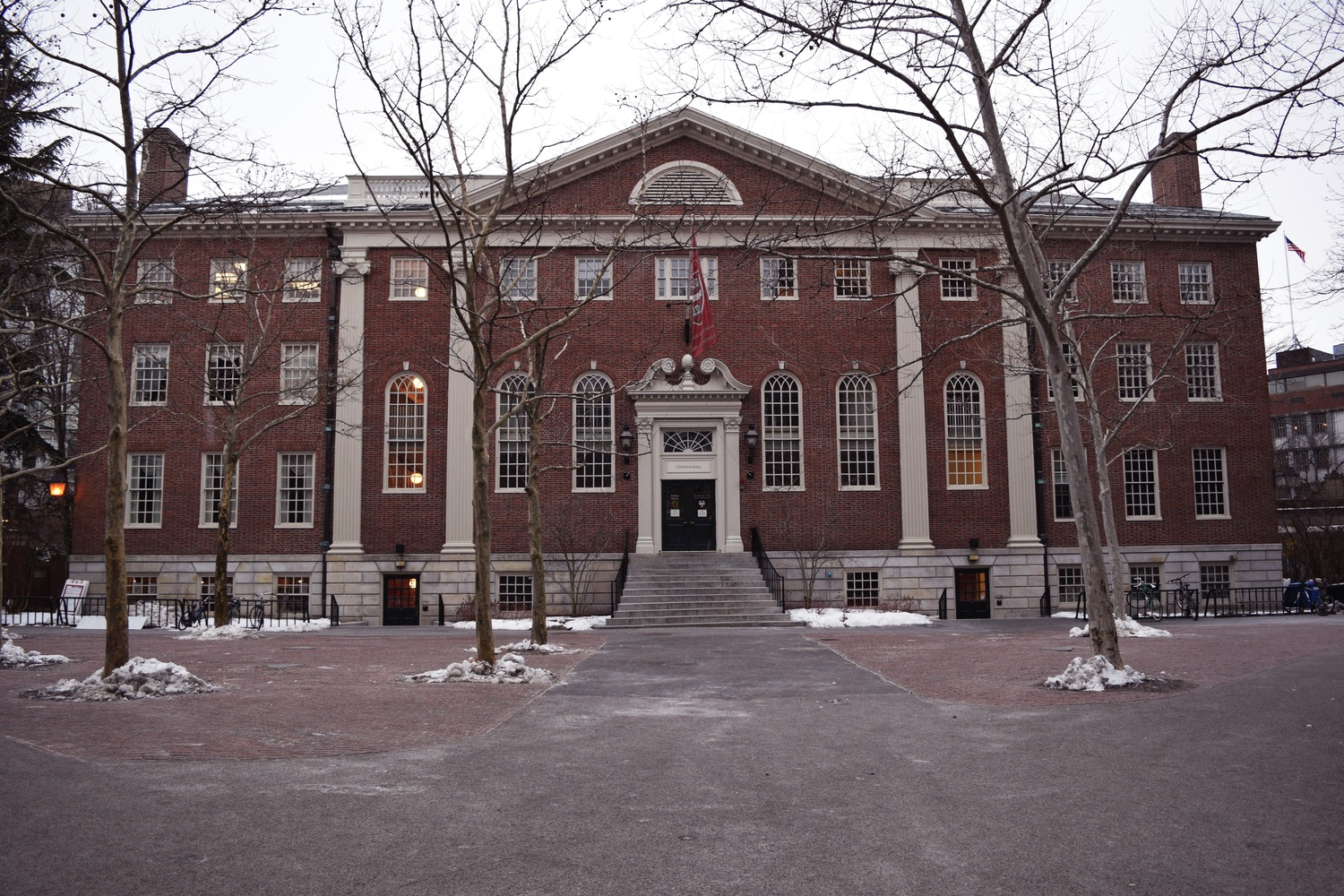 Lehman Hall is the main building for the Harvard Graduate School of Arts and Sciences.