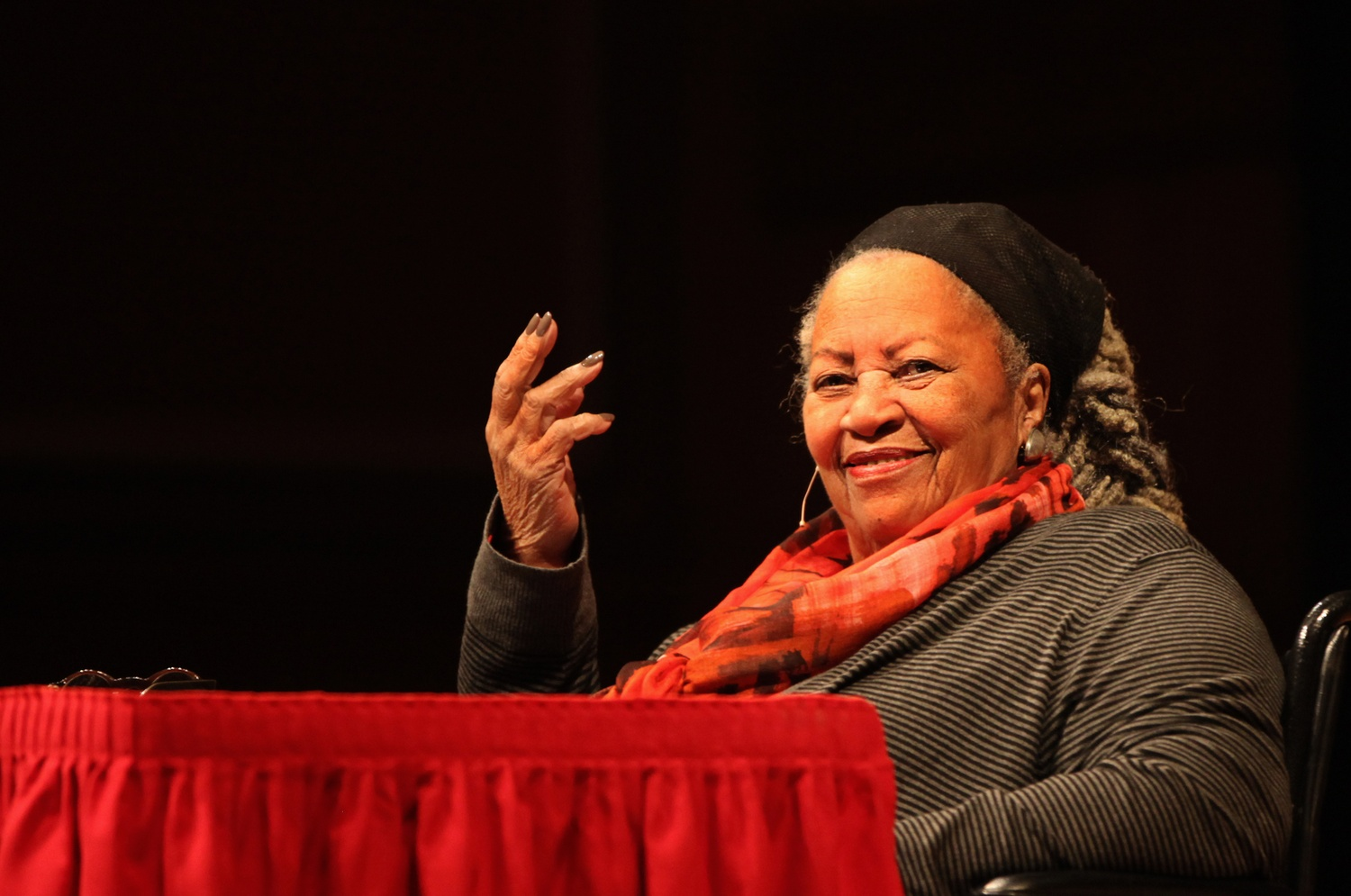 """Toni Morrison, award winning author and 2016 Norton Lecture Series speaker, kicked off her talk this Wednesday with an address entitled """"Romancing Slavery."""""""