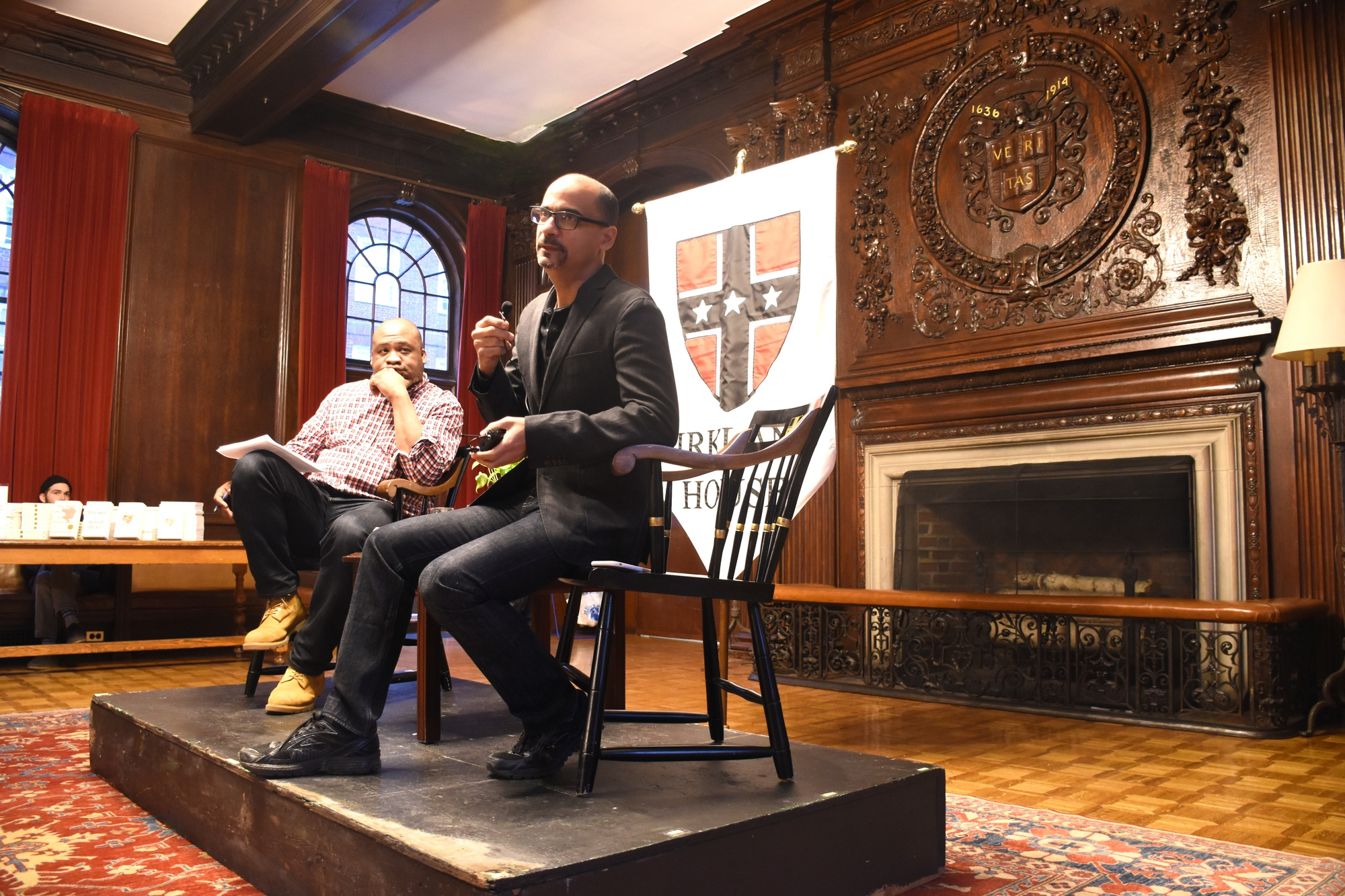 Pulitzer Prize-winning author and MIT professor Junot Diaz speaks at Kirkland House on Saturday, March 7.