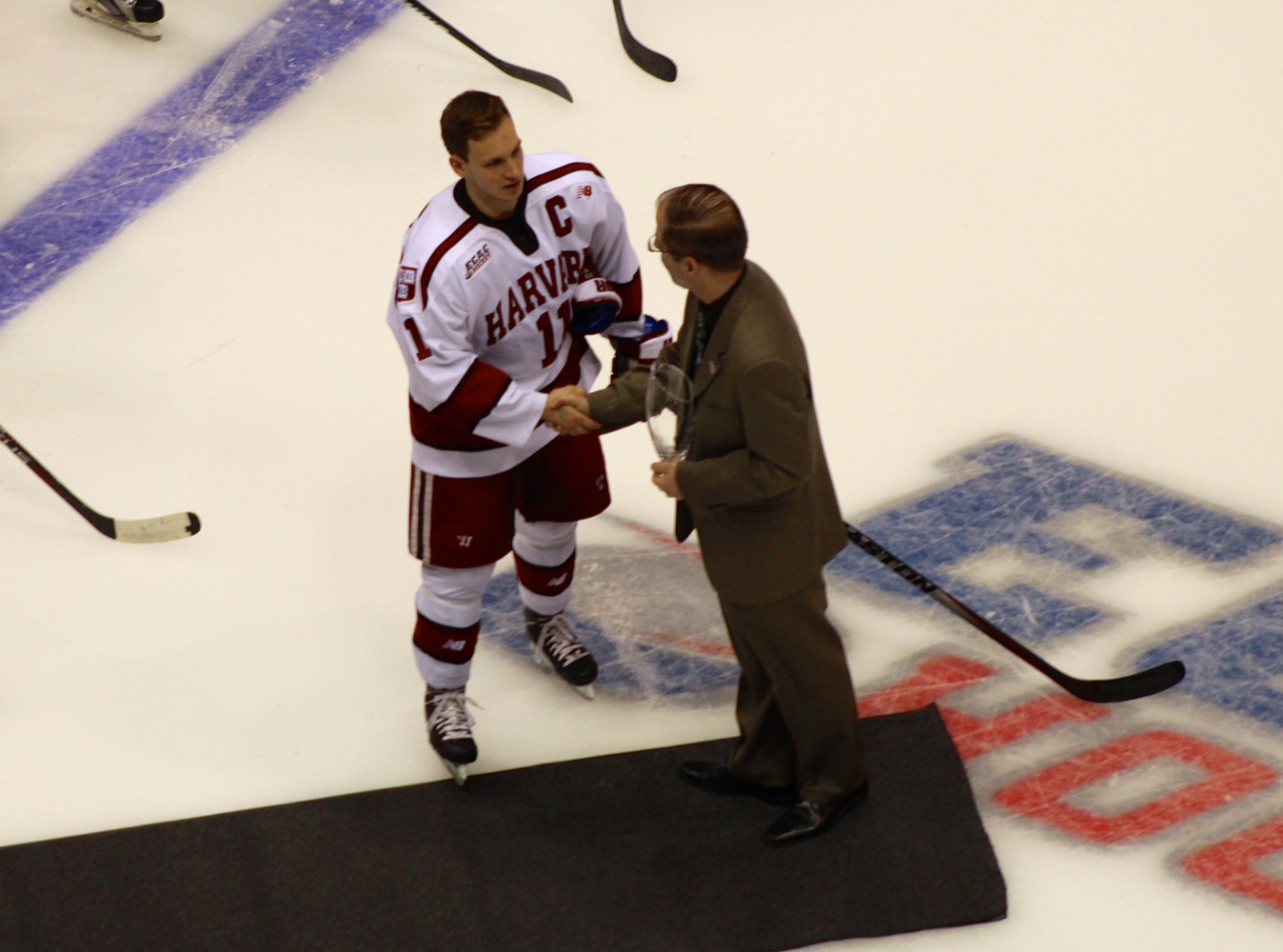 Kyle Criscuolo was honored as the ECAC Student Athlete of the Year prior to Friday's game.