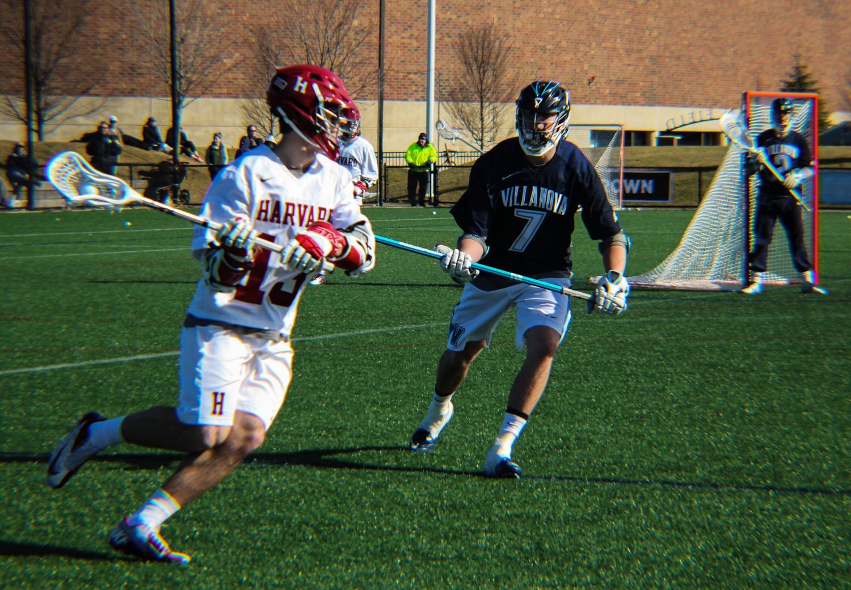 Sophomore Morgan Cheek (13) and the Crimson take on Penn this Saturday.