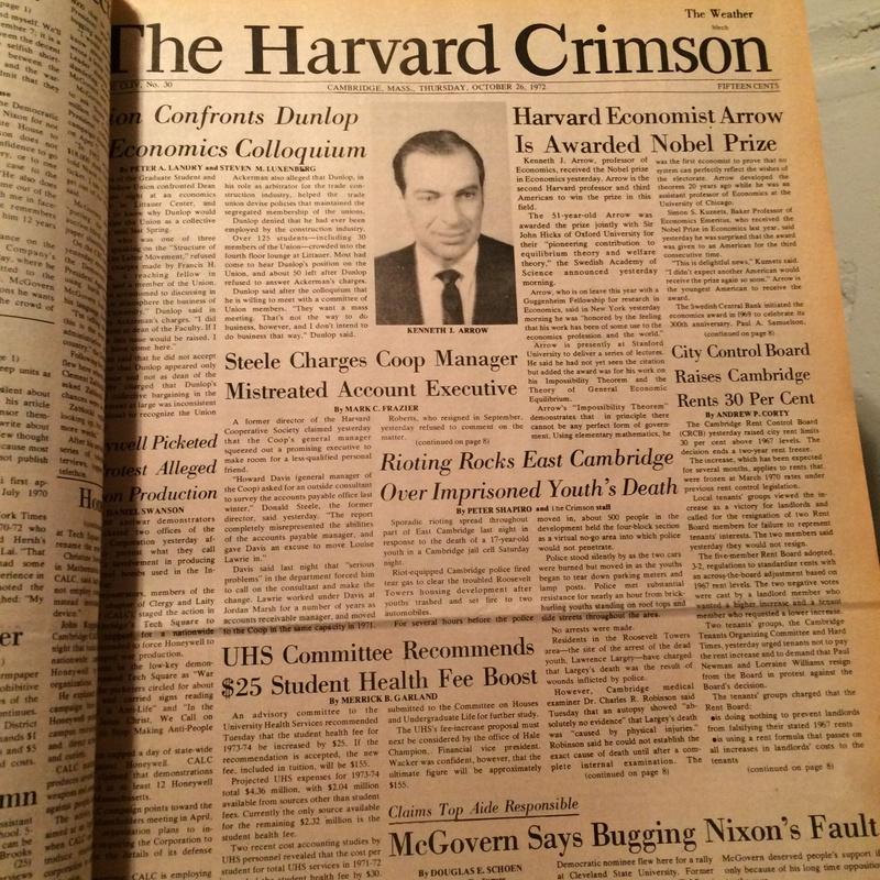 Merrick Garland in the Harvard Crimson