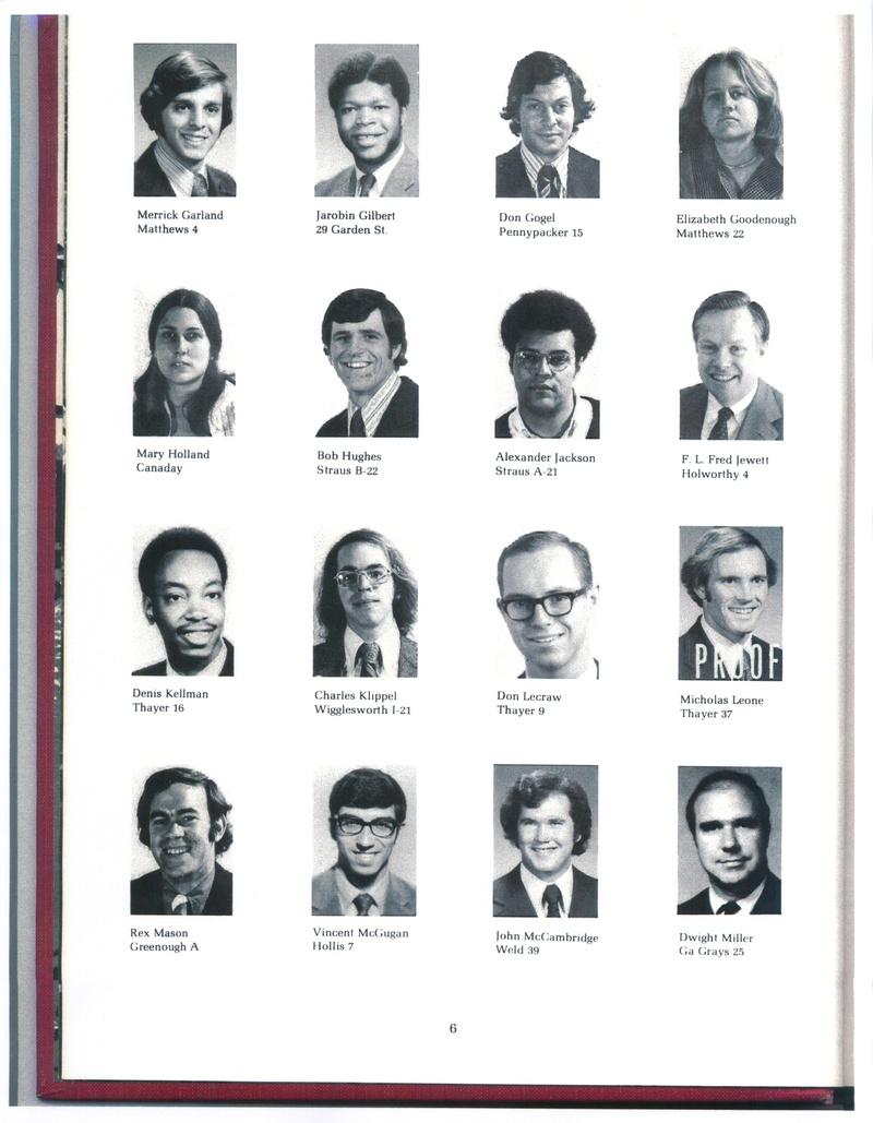 1978 Harvard Freshmen Proctors
